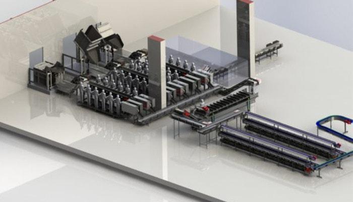 renderizado de maquinaria e instalación