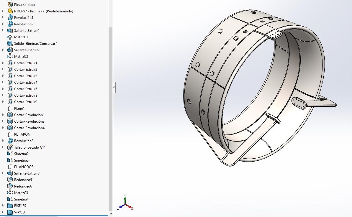 ejemplo diseño Solidworks